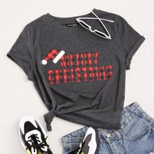 Christmas Letter Graphic Tee