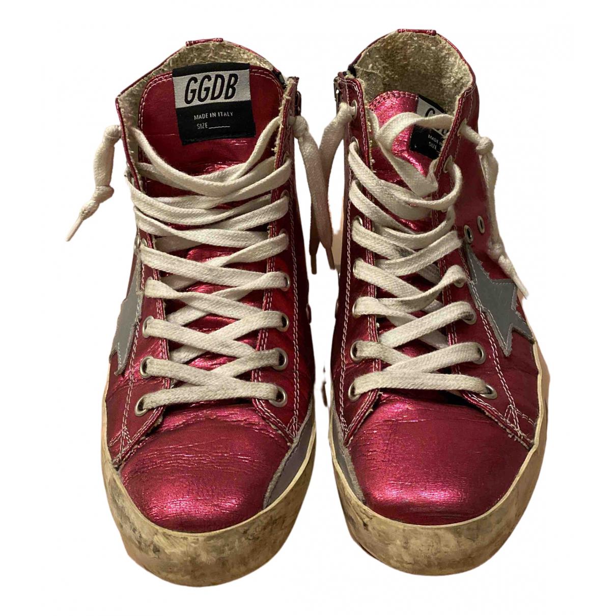 Golden Goose Francy Sneakers in  Rosa Leder