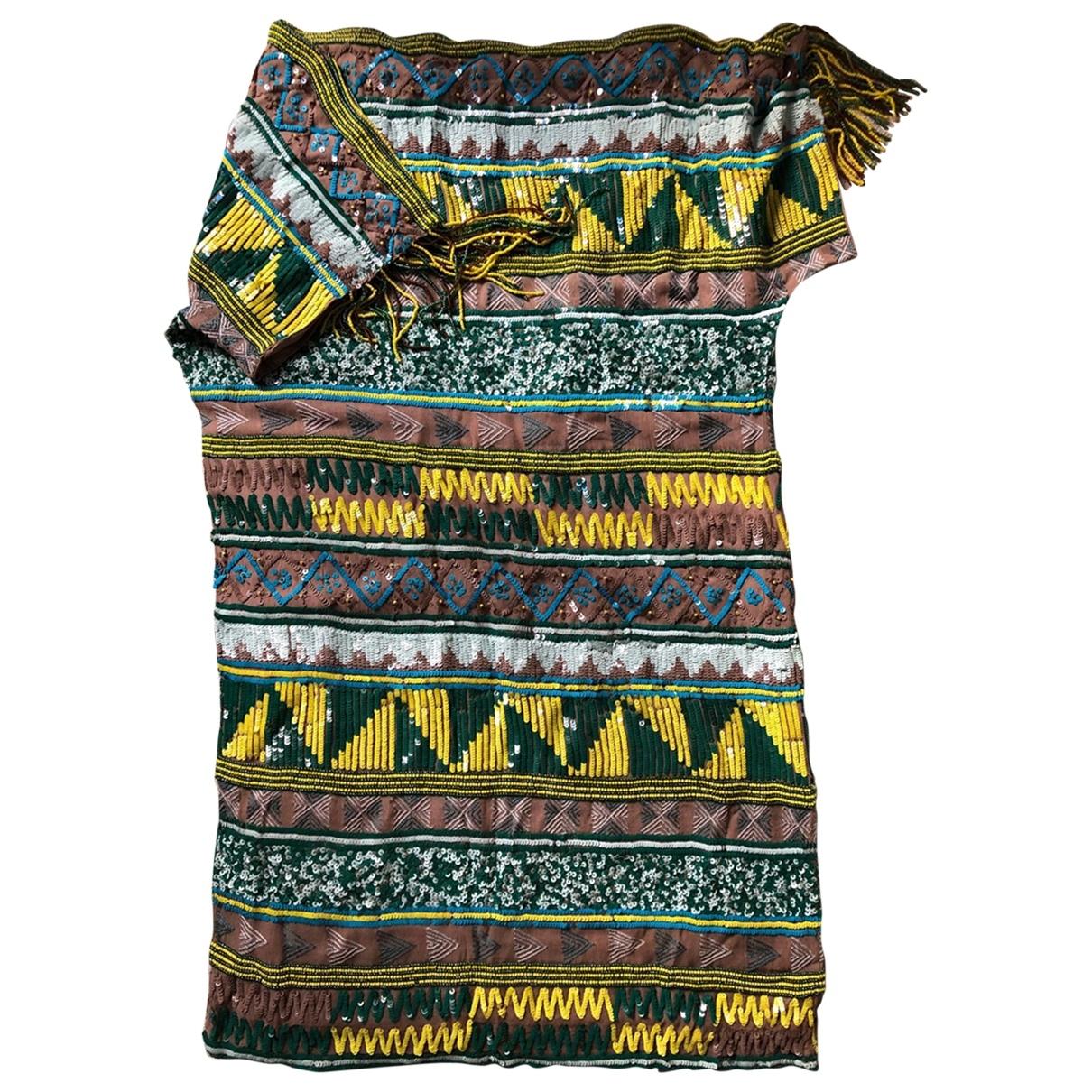 Antik Batik \N Kleid in  Bunt Mit Pailletten