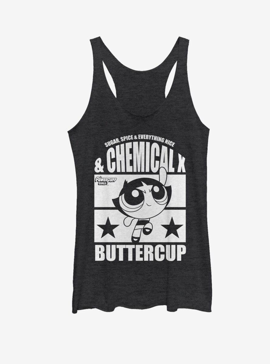 The Powerpuff Girls Chemical X Buttercup Womens Tank Top