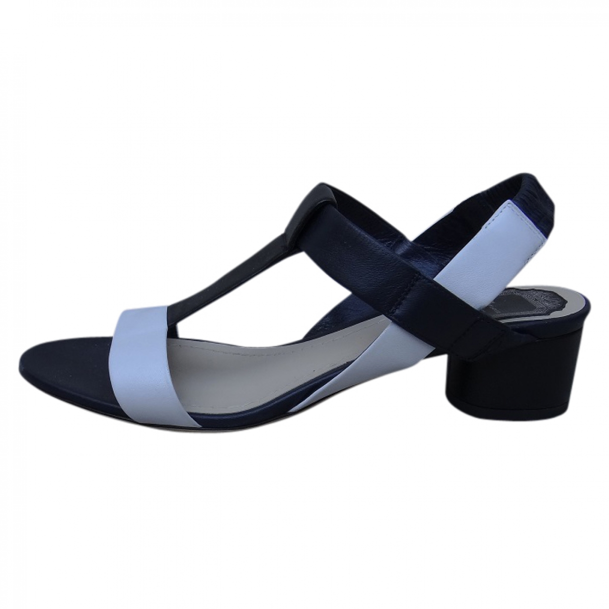 Dior \N Navy Leather Sandals for Women 37 EU