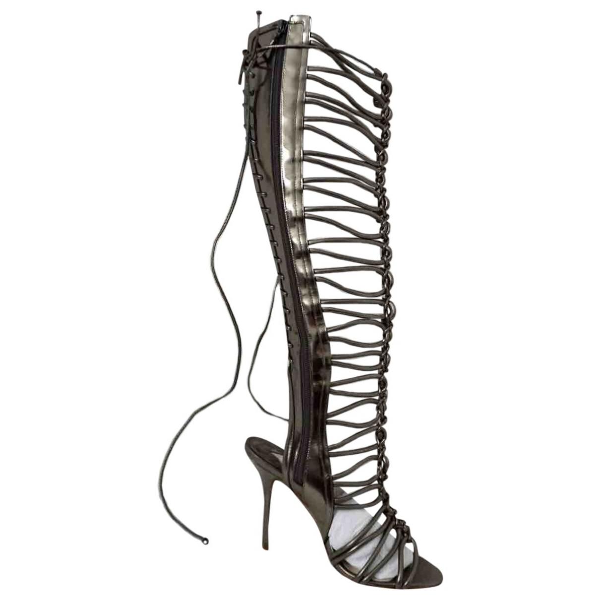 Sophia Webster \N Silver Leather Boots for Women 37.5 EU