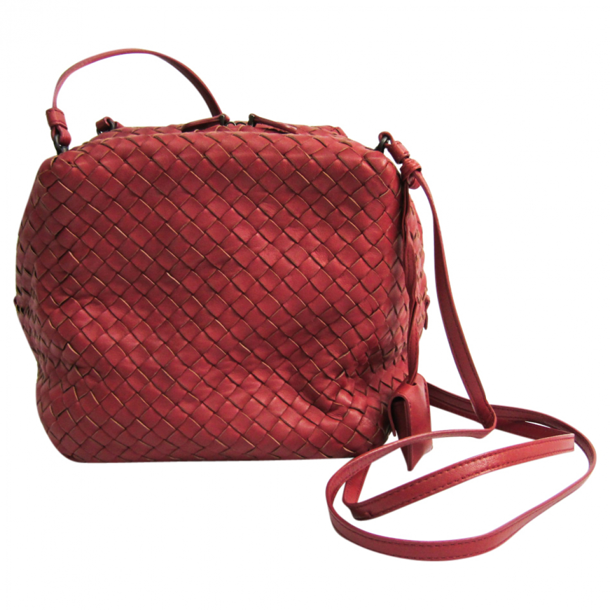 Bottega Veneta \N Handtasche in  Rot Leder