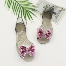 Sequins Bow Decor Sandals