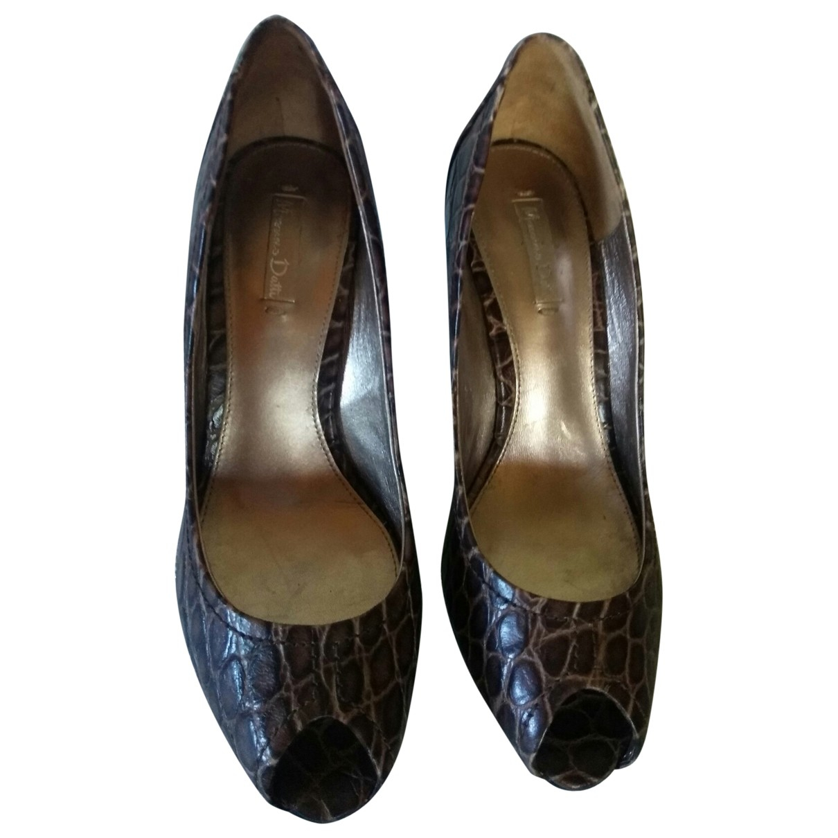 Massimo Dutti \N Brown Leather Heels for Women 37 EU