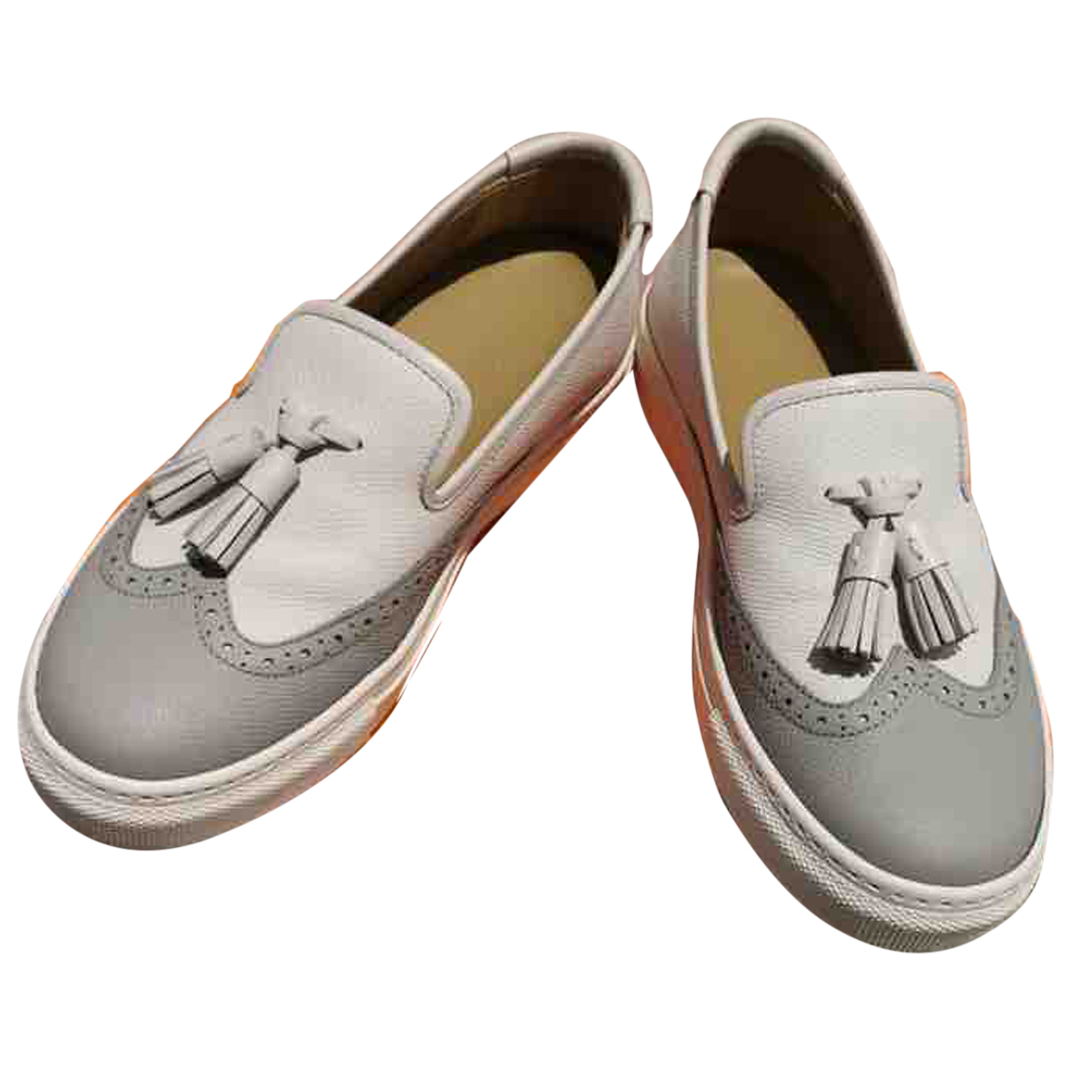 Hermès N White Leather Trainers for Women 35.5 EU