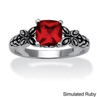 Sterling Silver Birthstone Ring (July - 7)