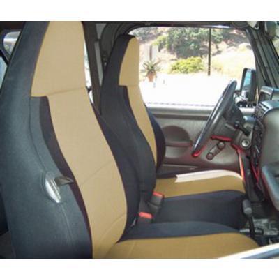 Coverking Neoprene Front Seat Covers (Black/Tan) - SPC123