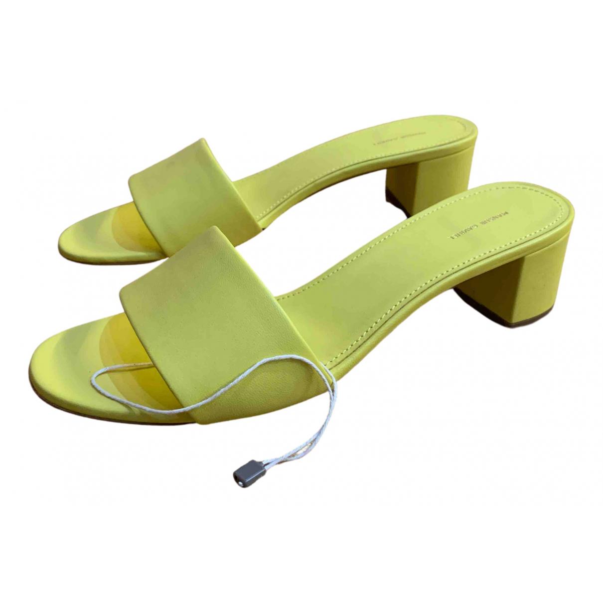 Mansur Gavriel - Sandales   pour femme en cuir - jaune