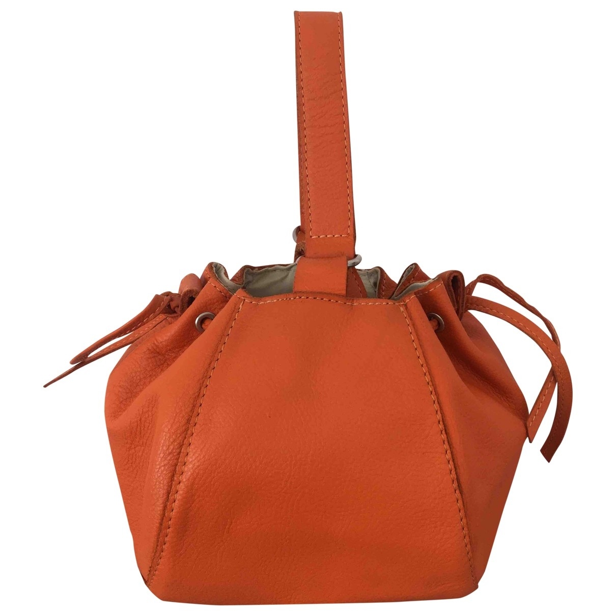 Non Signe / Unsigned \N Clutch in  Orange Leder