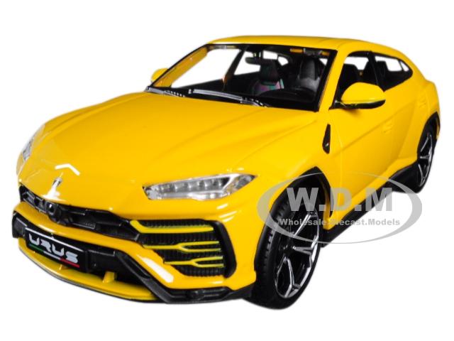 Lamborghini Urus Yellow 1/24 Diecast Model Car by Maisto