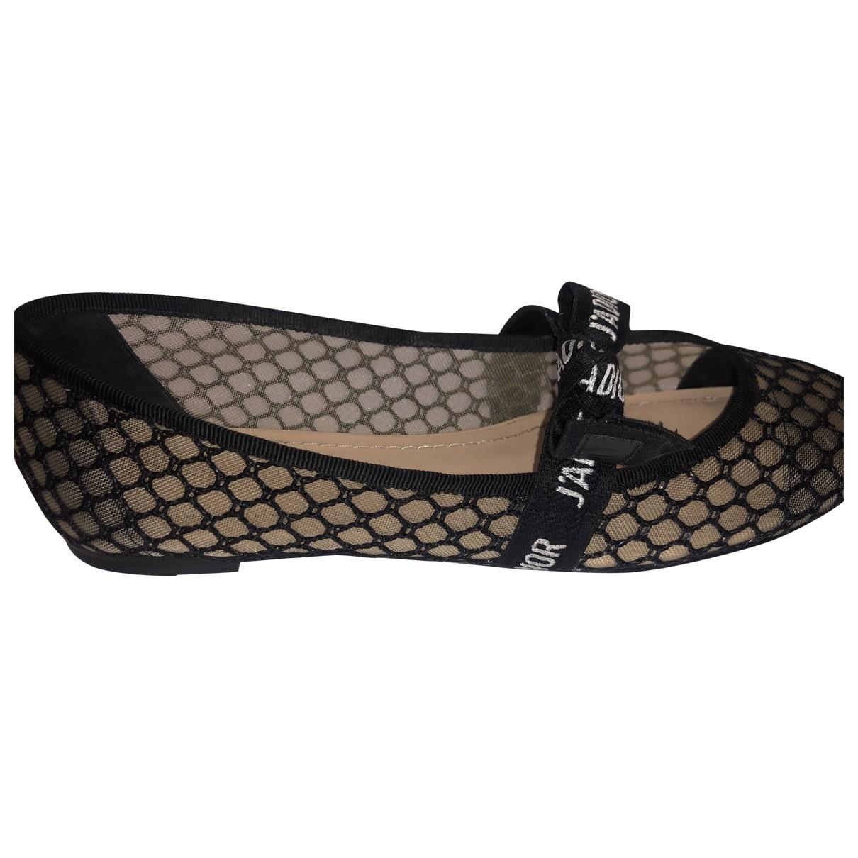Dior J'adior Black Cloth Ballet flats for Women 37.5 EU