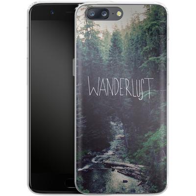 OnePlus 5 Silikon Handyhuelle - Wanderlust - Rainier Creek von Leah Flores
