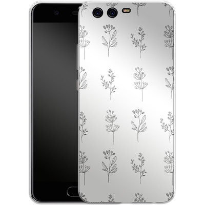 Huawei P10 Silikon Handyhuelle - Botanic Studies von Lucy Bohr