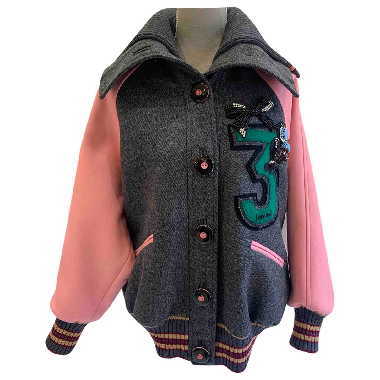 Miu Miu N Grey Wool jacket for Women 36 IT