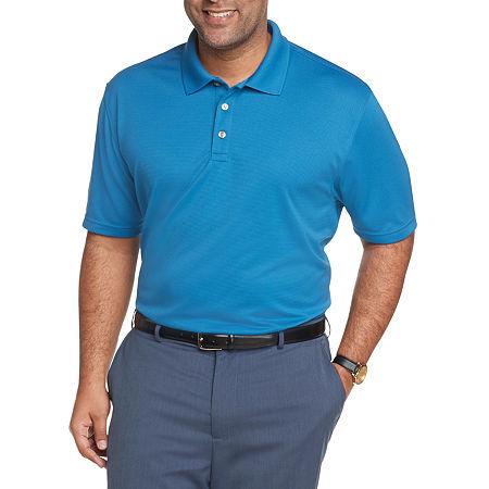 Van Heusen Big and Tall Mens Short Sleeve Polo Shirt, 2x-large Tall , Blue