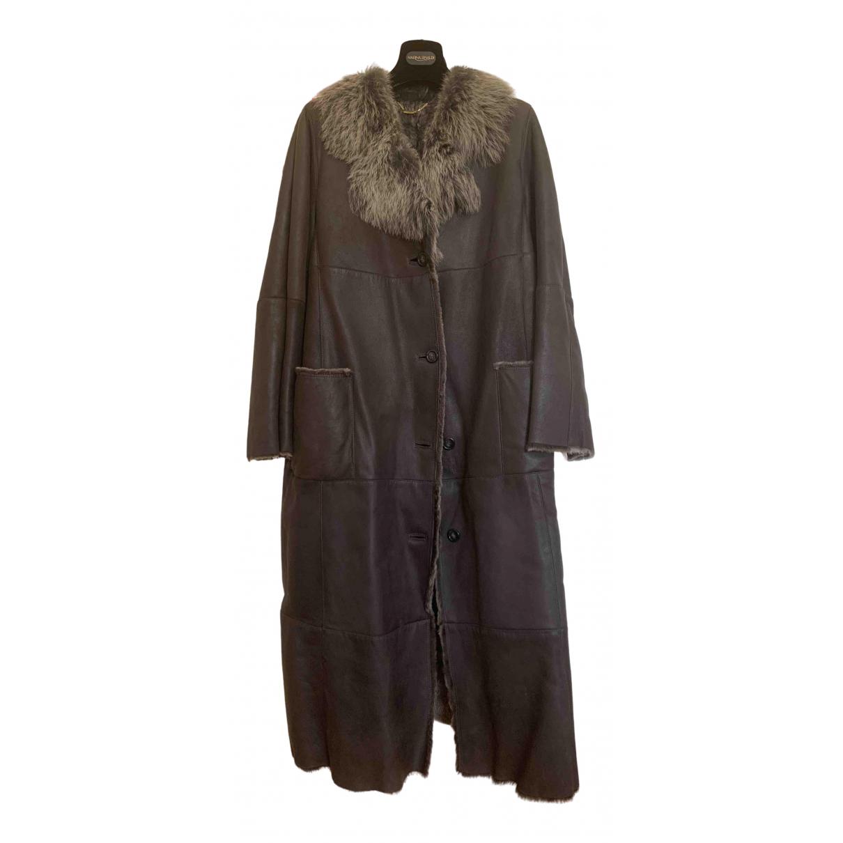 - Manteau   pour femme en cuir - gris