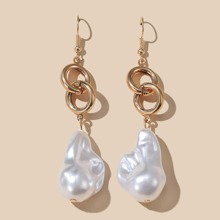 Faux Pearl Round Drop Earrings