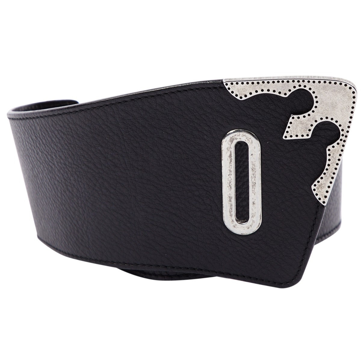 Versace \N Black Leather belt for Women 75 cm