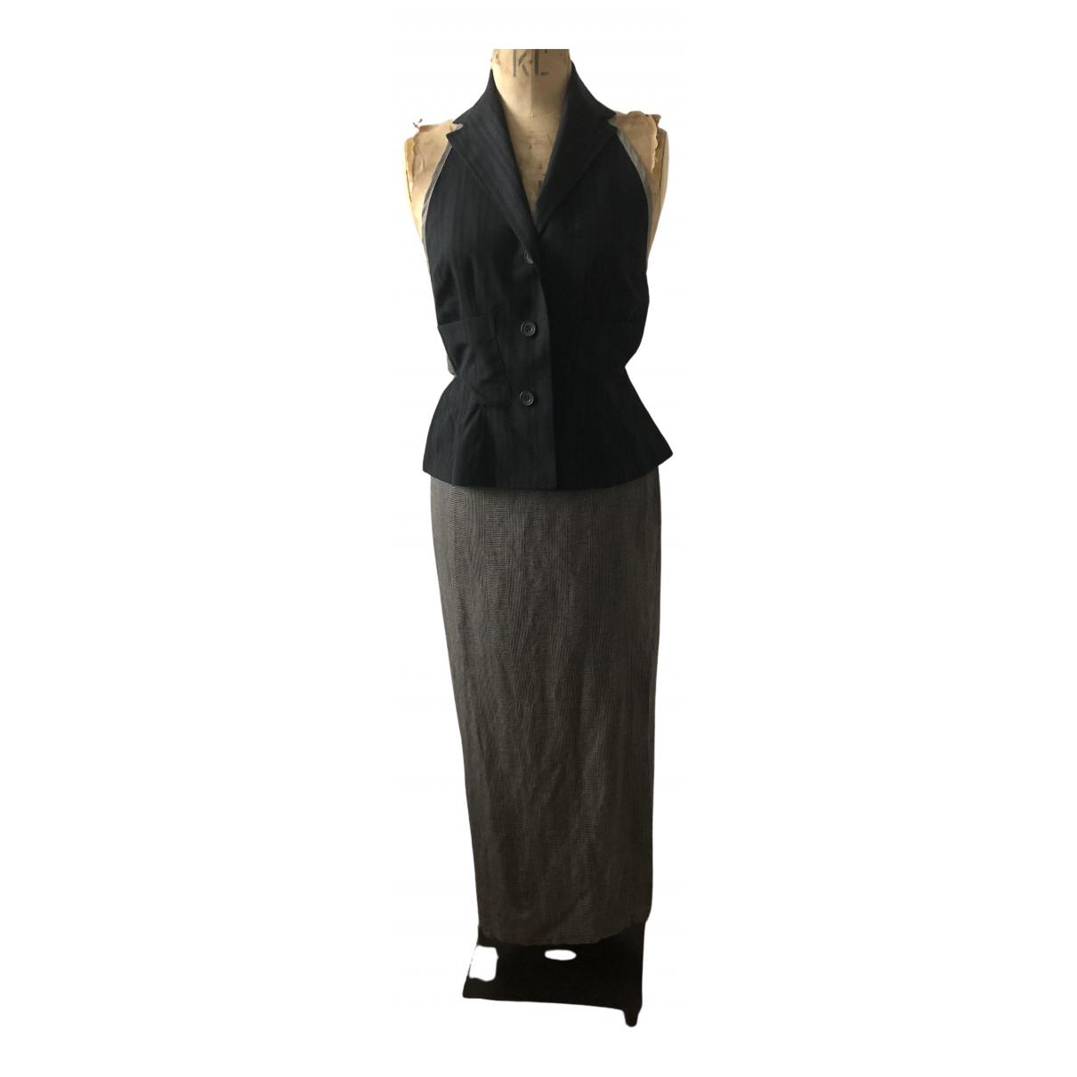 Dries Van Noten \N Kleid in  Braun Leinen