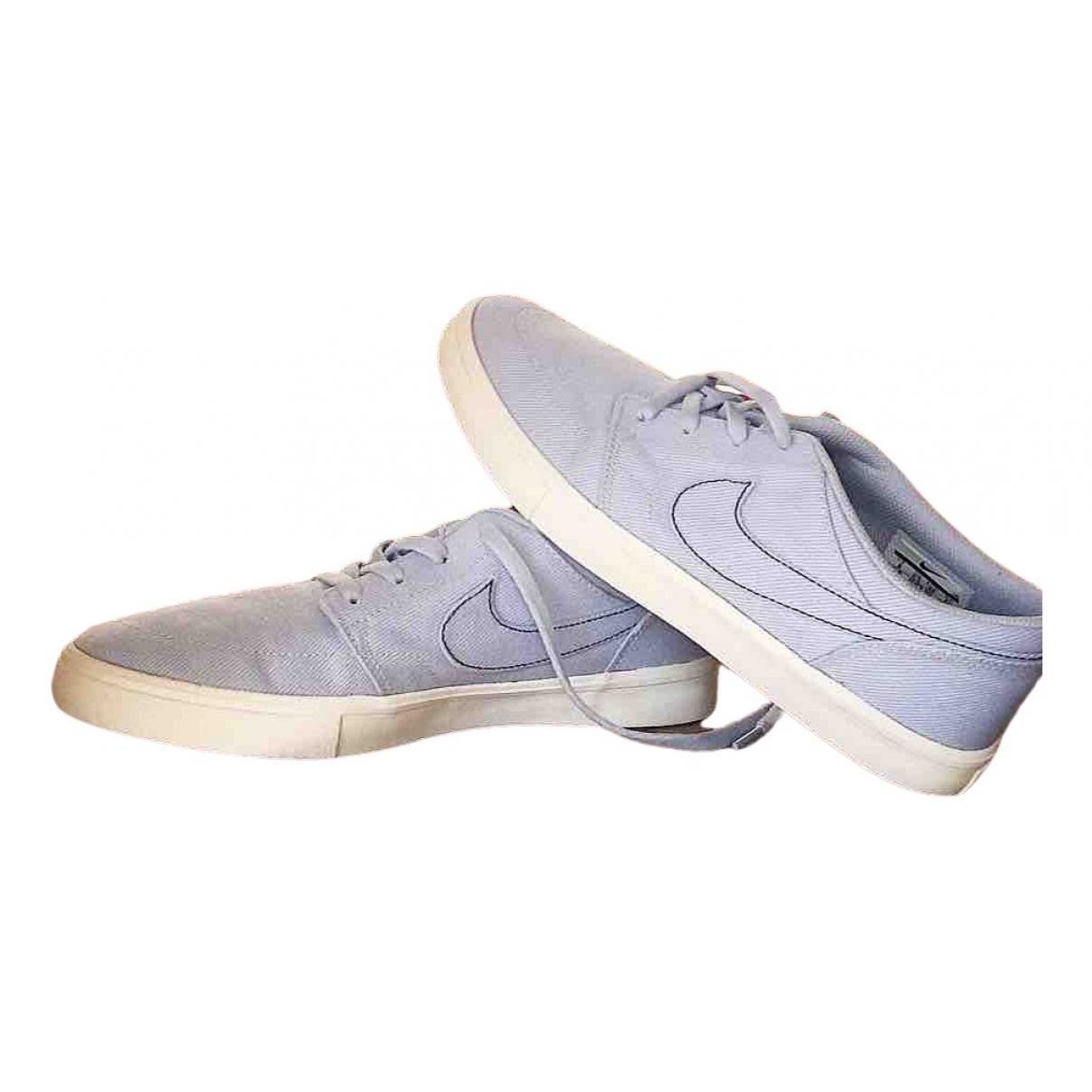 Nike - Baskets   pour femme en toile - bleu