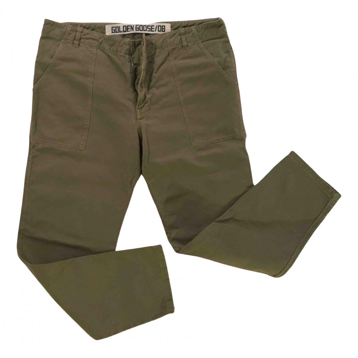 Golden Goose \N Green Cotton Trousers for Women M International