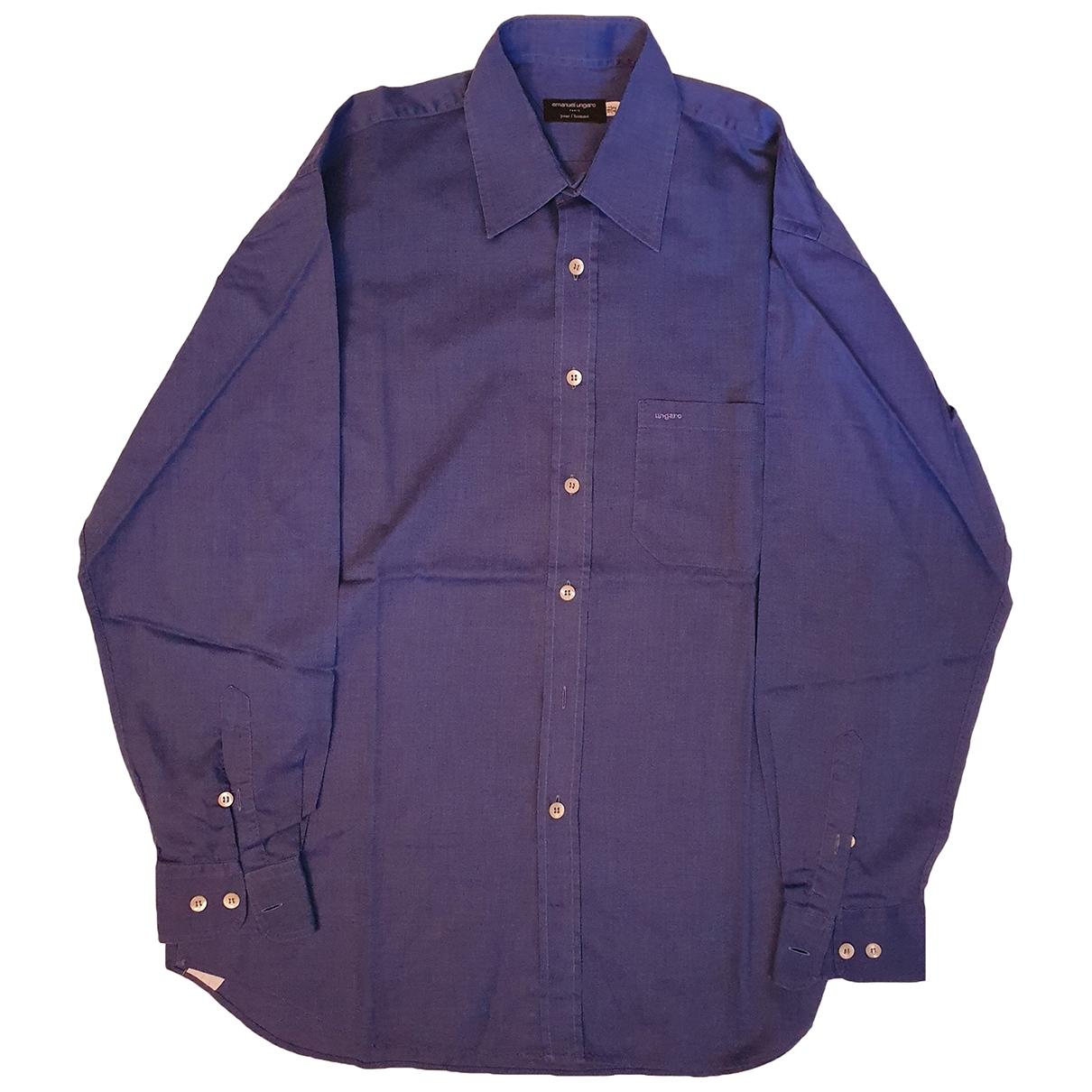 Emanuel Ungaro - Chemises   pour homme en coton - bleu