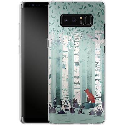 Samsung Galaxy Note 8 Silikon Handyhuelle - Birches von Little Clyde