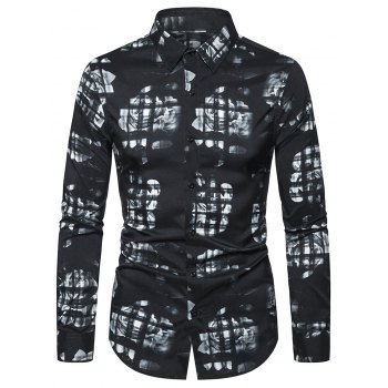 Floral Pattern Leisure Long-sleeved Shirt