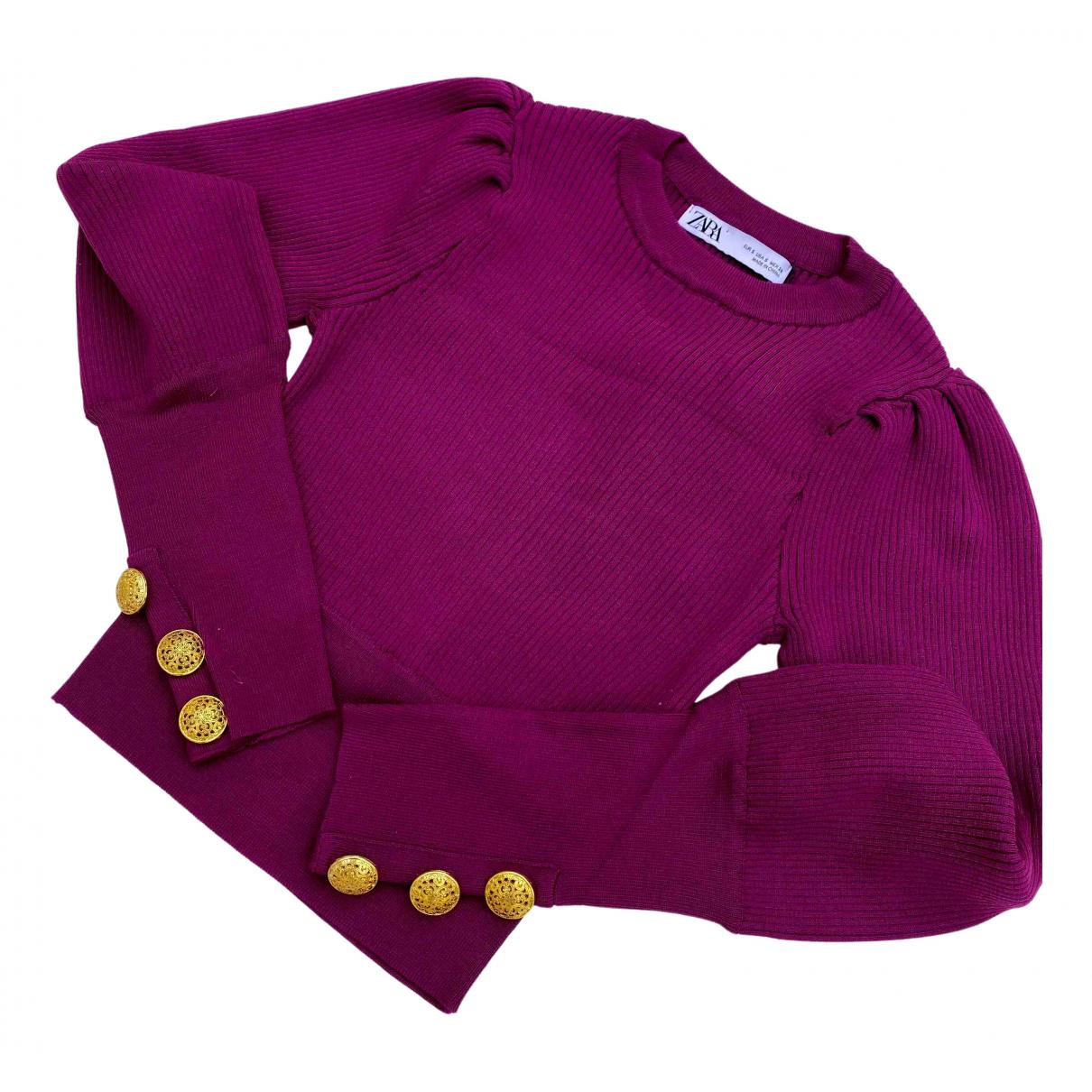 Zara - Pull   pour femme - rose