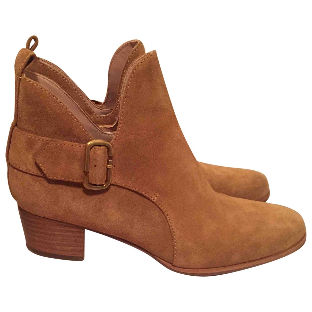 Marc By Marc Jacobs - Boots   pour femme en suede - camel