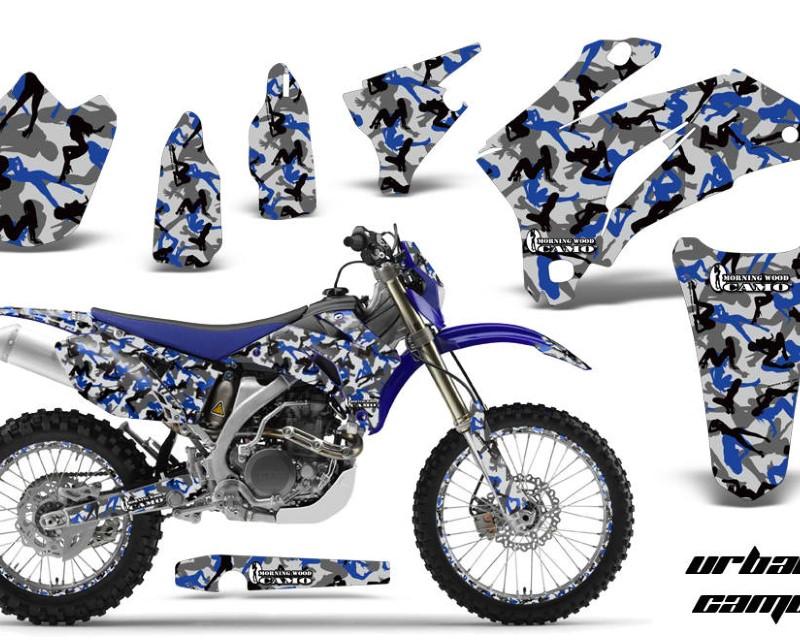 AMR Racing Graphics MX-NP-YAM-WR250F-07-14-WR450F-07-11-UC U Kit Decal Wrap + # Plates For Yamaha WR250F 2007-2014 WR450F 2007-2011áURBAN CAMO BLUE