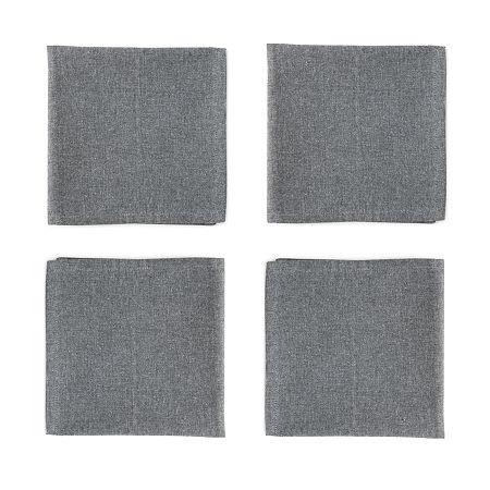 Homewear Mekia 4-pc. Napkins, One Size , Black
