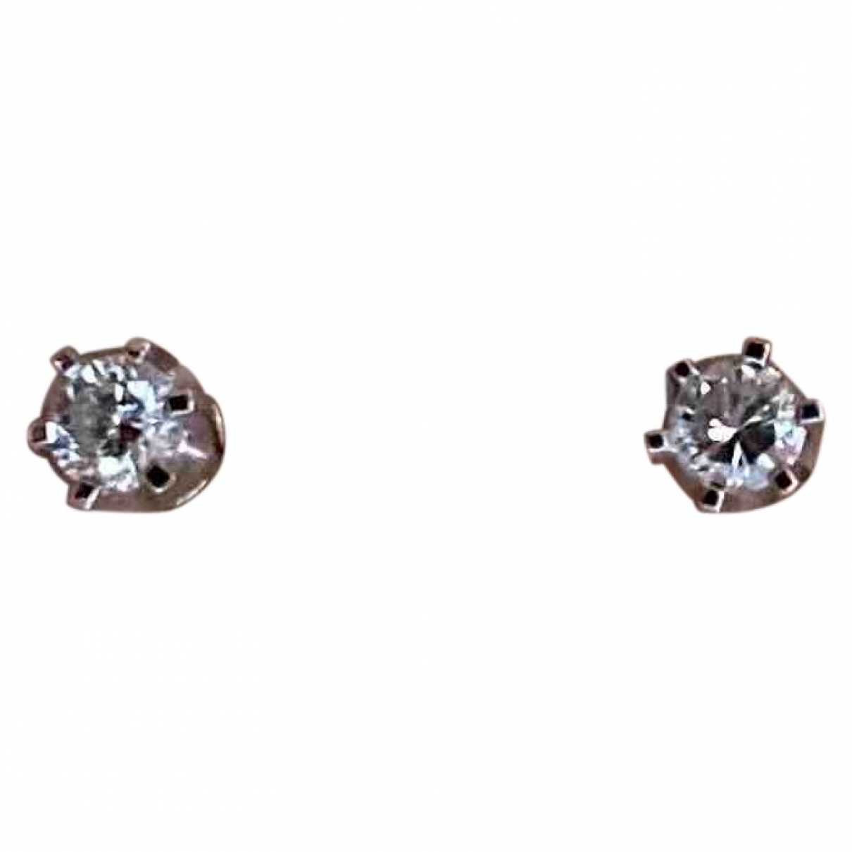 Non Signe / Unsigned Puces en diamants OhrRing in Weissgold