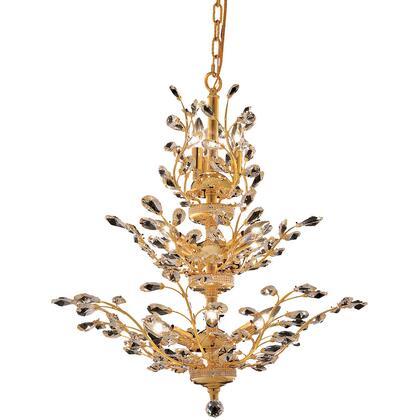 V2011D27G/RC Orchid 13 Light Gold Chandelier Clear Royal Cut