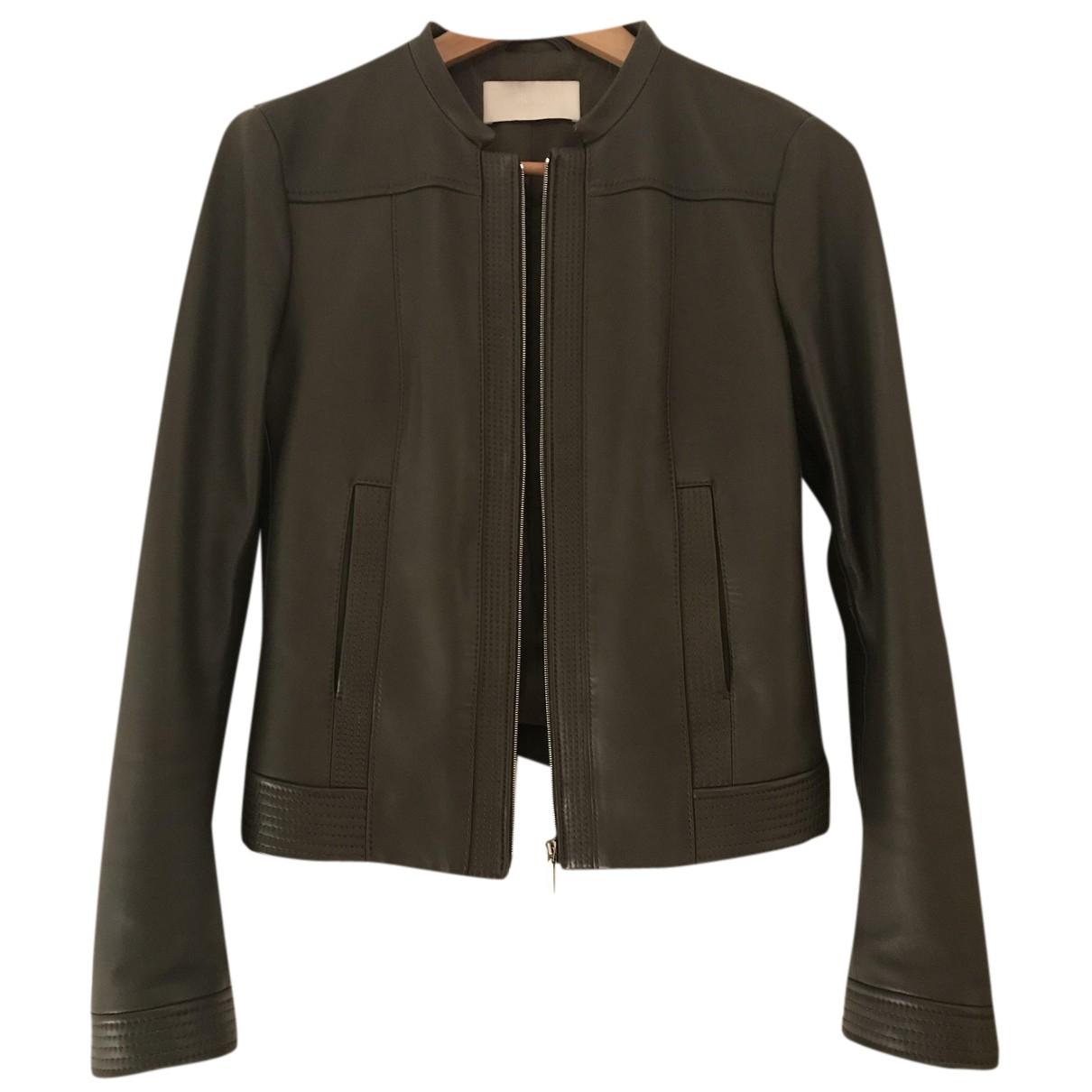 Hugo Boss - Veste   pour femme en cuir - vert