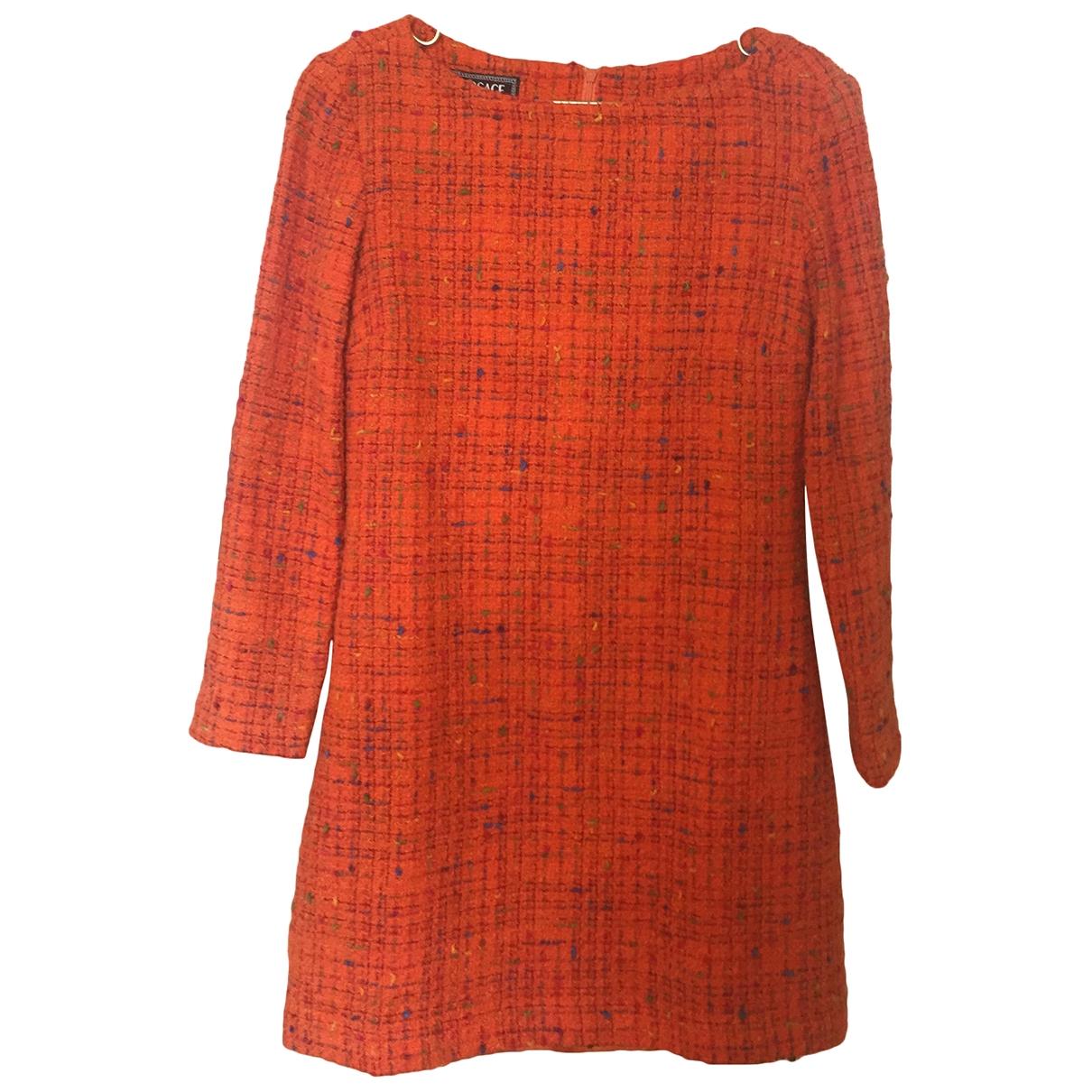 Versace Jean - Robe   pour femme en tweed - orange