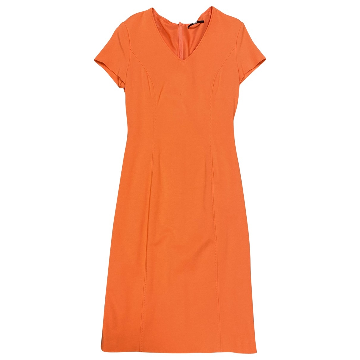 Boss - Robe   pour femme en coton - elasthane - orange
