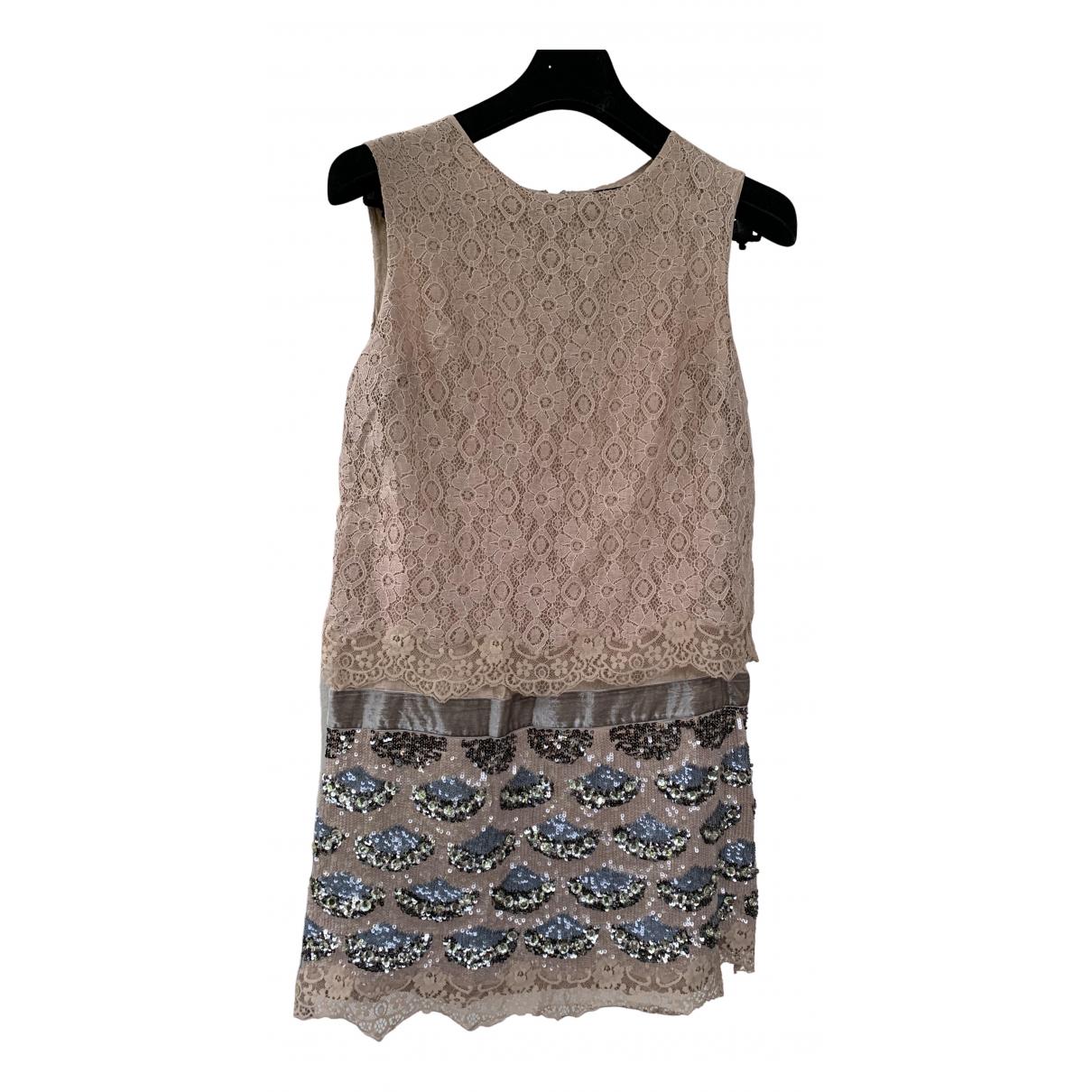 Twin Set \N Kleid in  Ecru Baumwolle