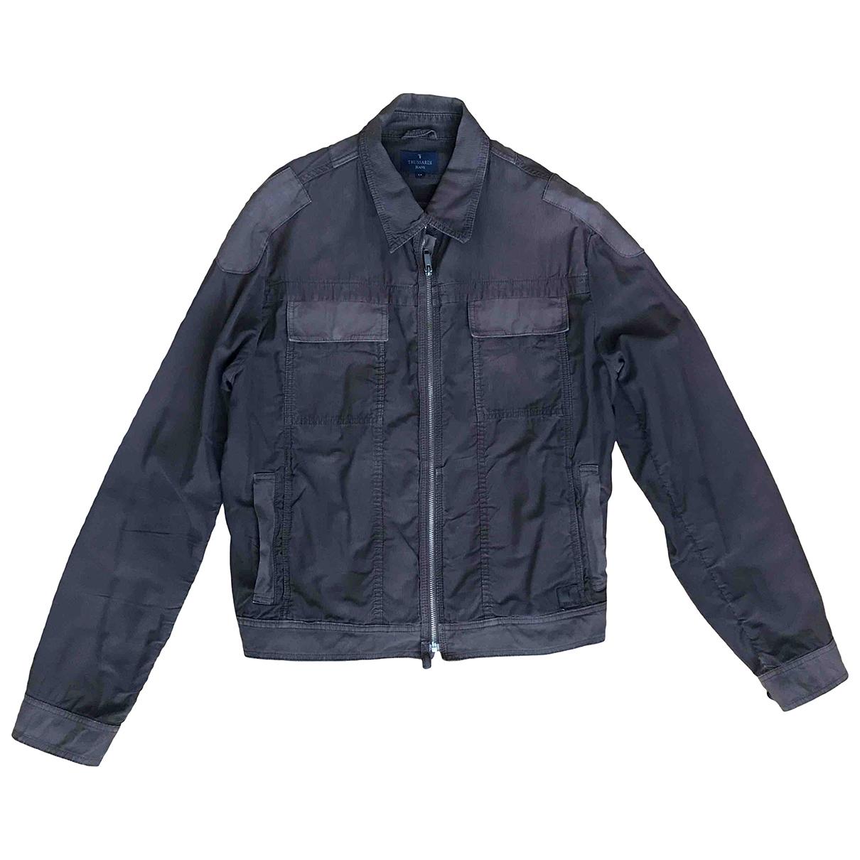 Trussardi Jeans \N Jacke in  Braun Baumwolle