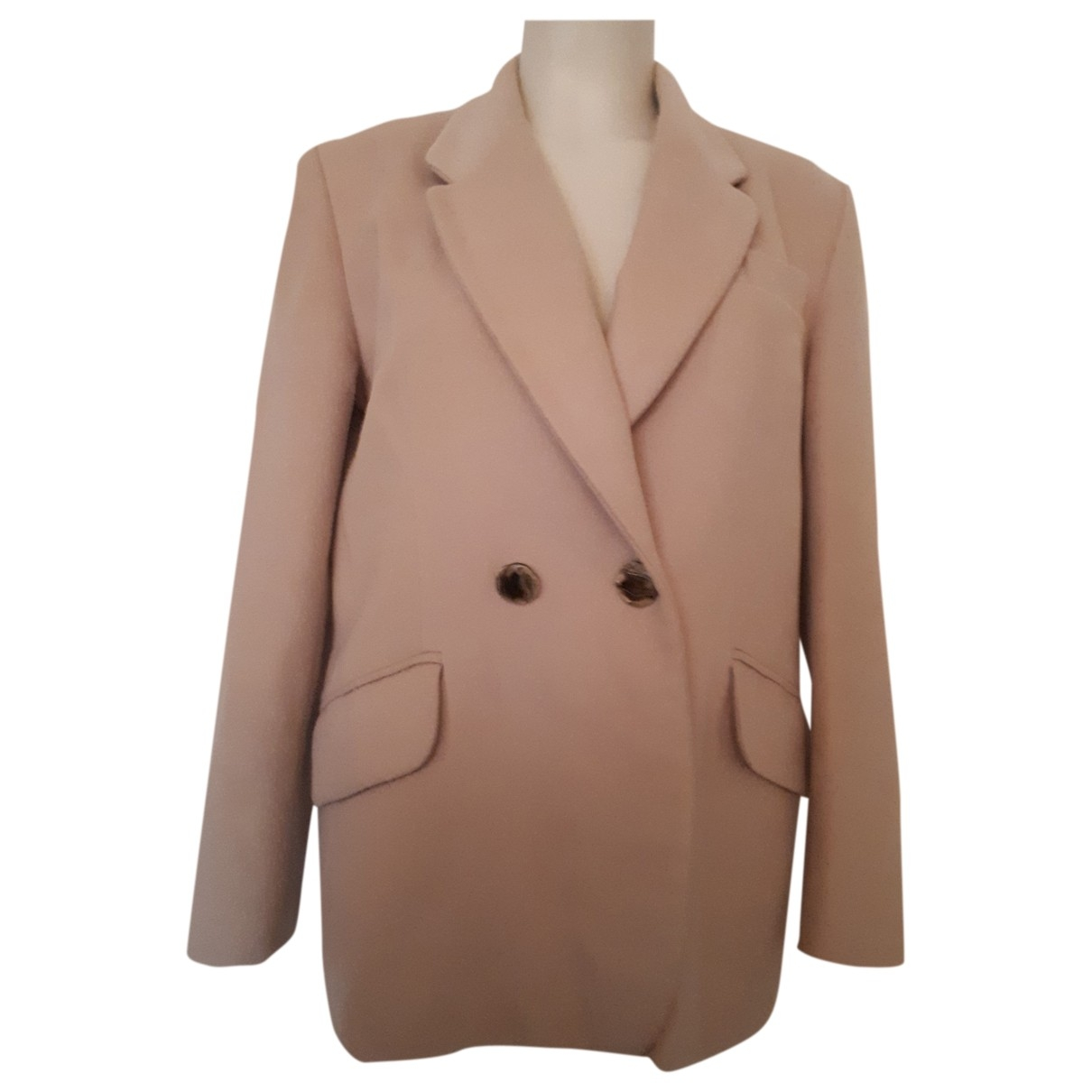 Non Signé / Unsigned \N Beige Wool jacket for Women 42 FR