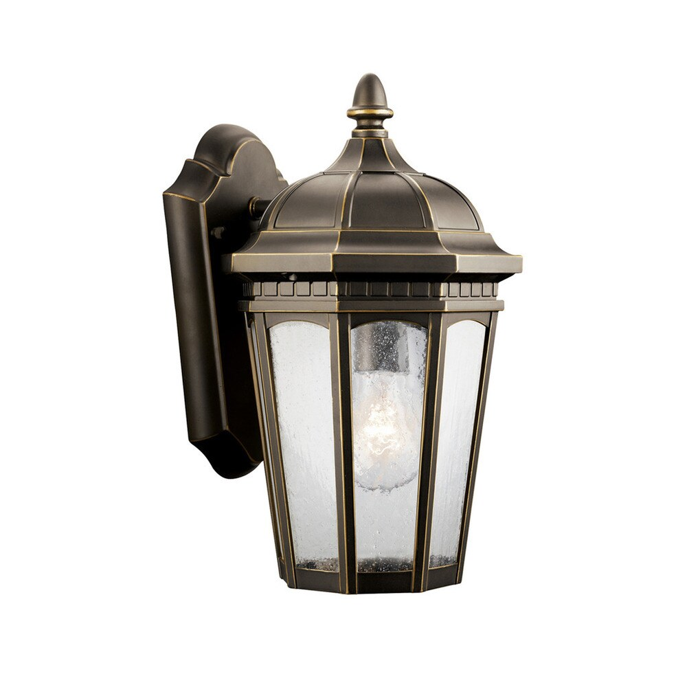 Kichler Lighting Courtyard Collection 1-light Rubbed Bronze Outdoor Wall Lantern