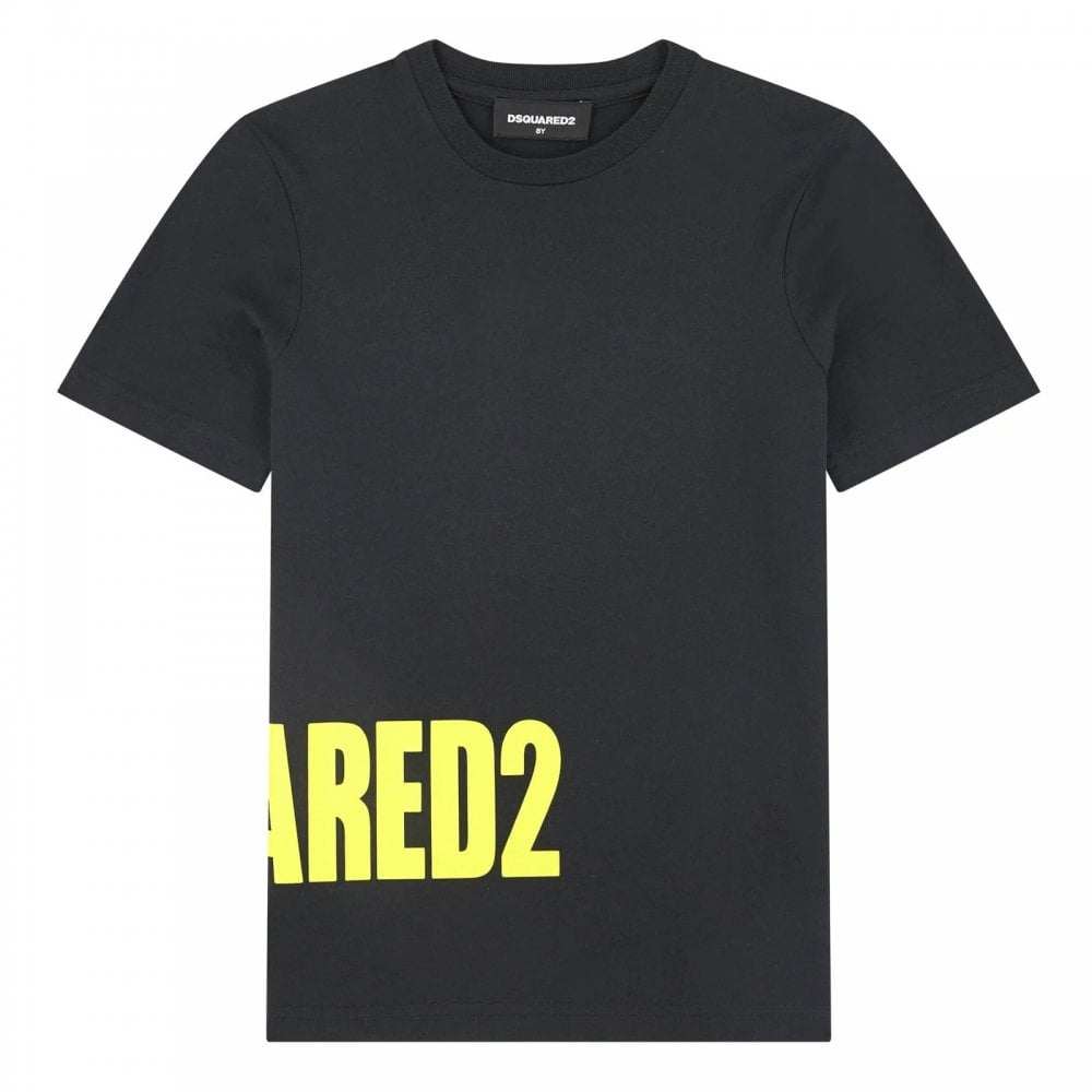 Dsquared2 Side Logo T-shirt Colour: BLACK, Size: 8 YEARS