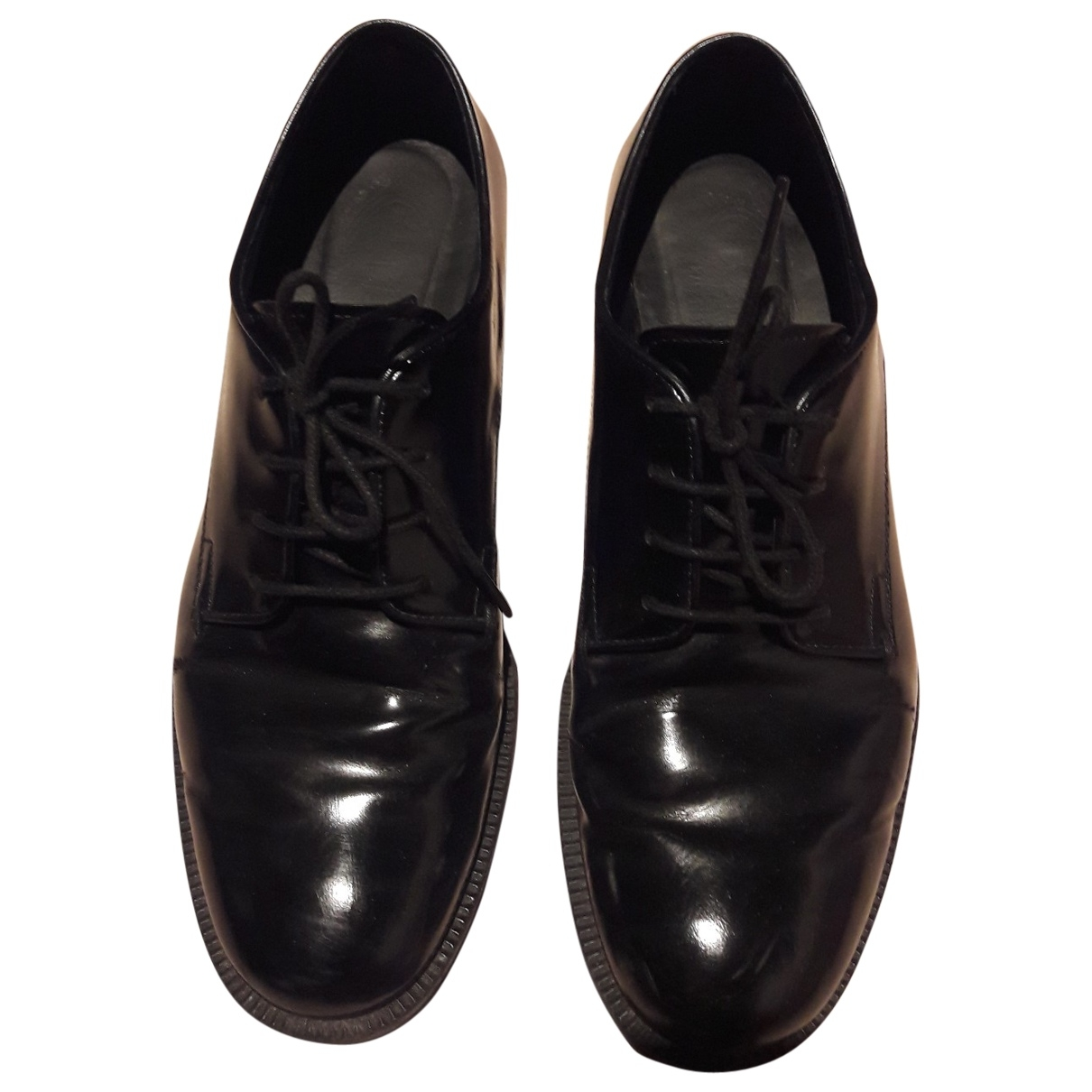 Tod's \N Black Leather Lace ups for Women 37.5 EU