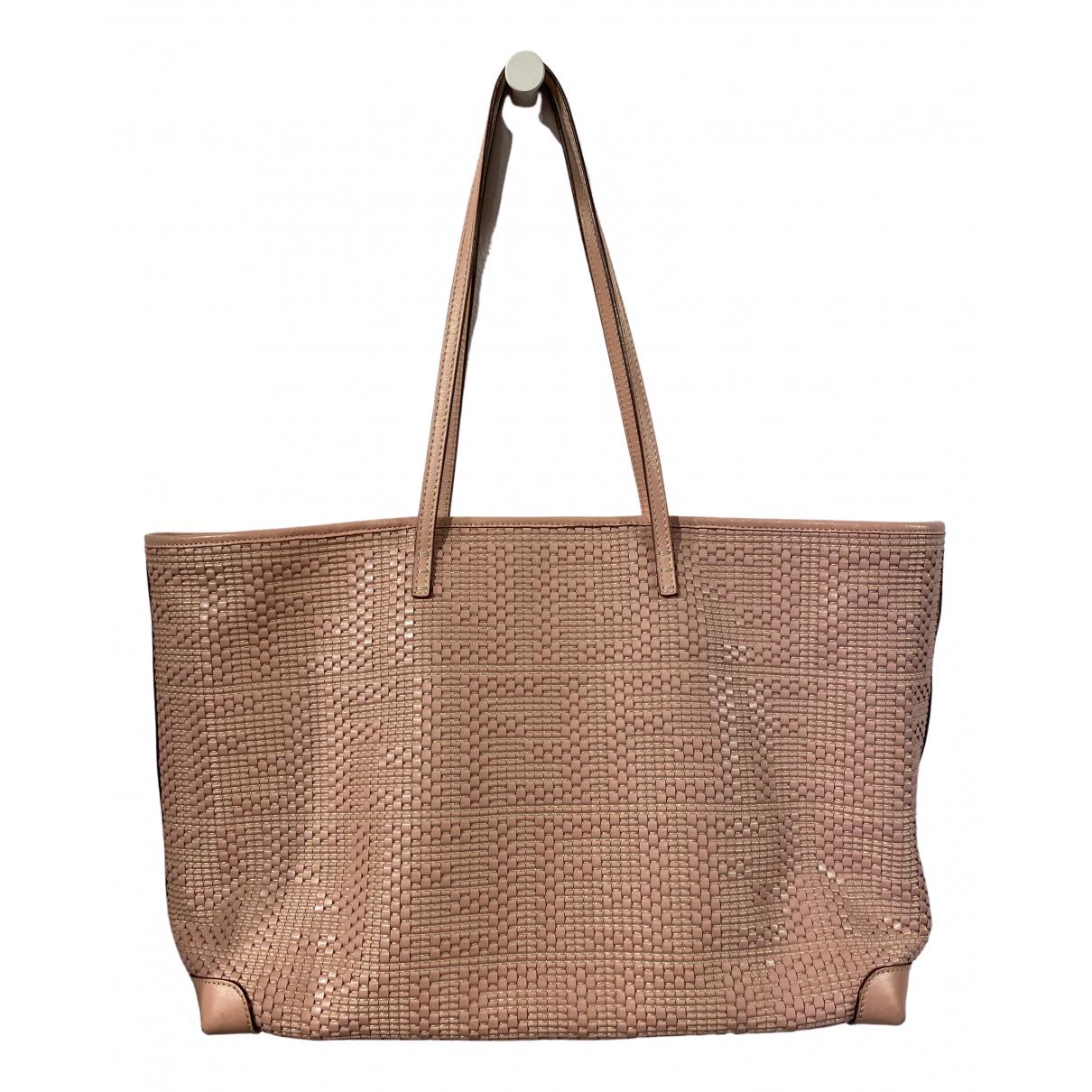 Fendi Roll Bag  Handtasche in  Rosa Leder