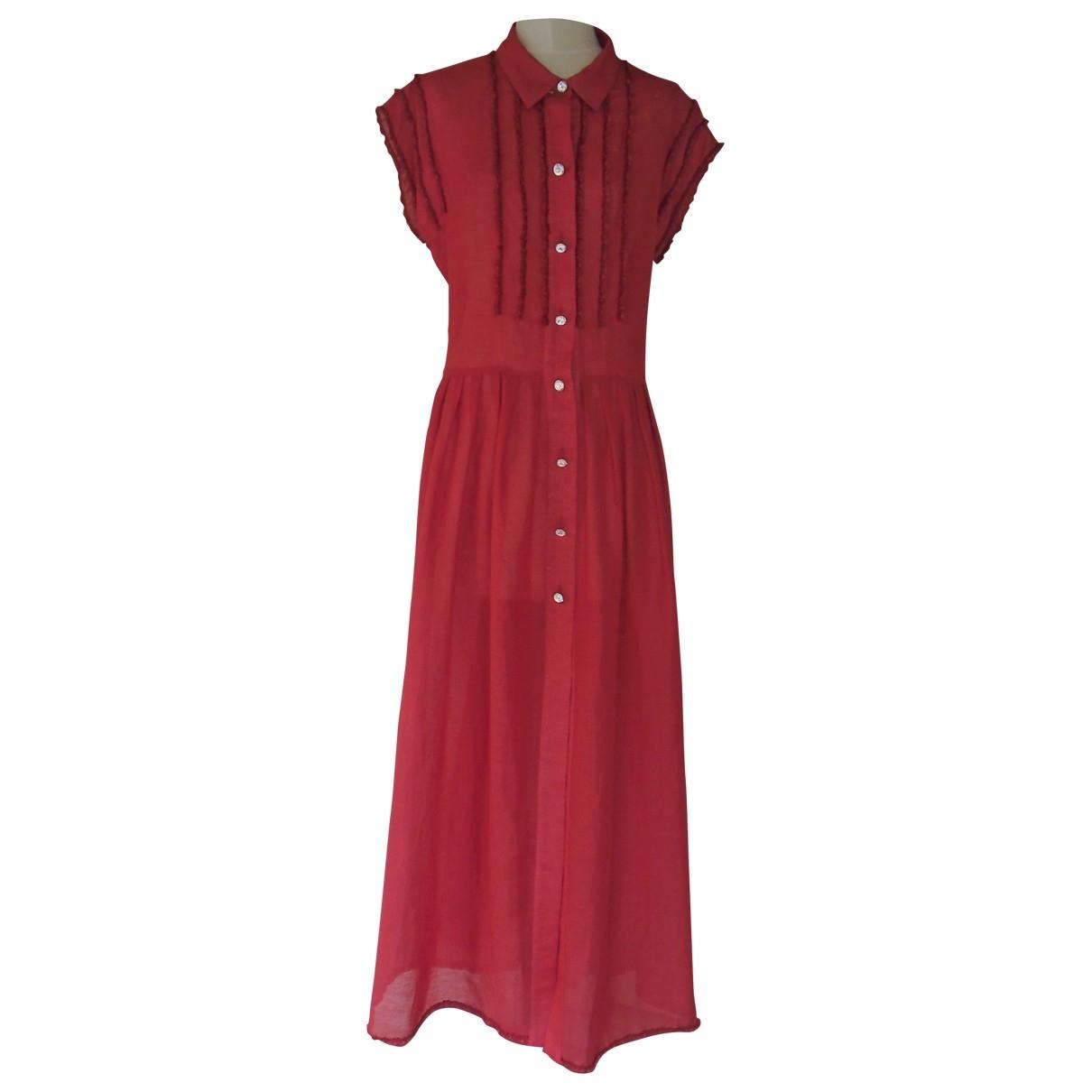 Sonia Rykiel \N Kleid in  Rot Leinen