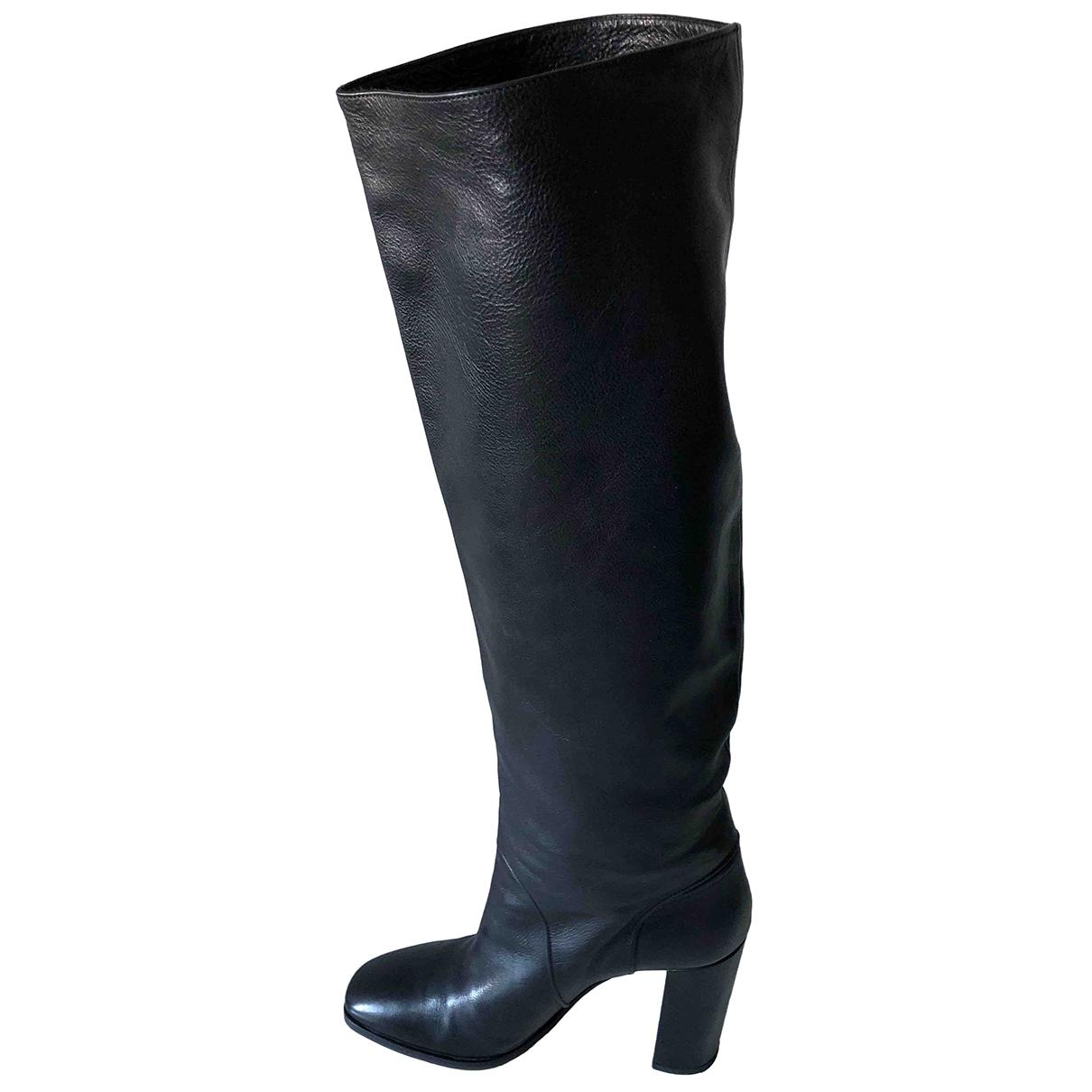 Michel Perry - Bottes   pour femme en cuir - noir