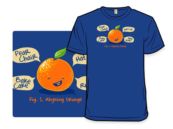 Rhyming Orange T Shirt