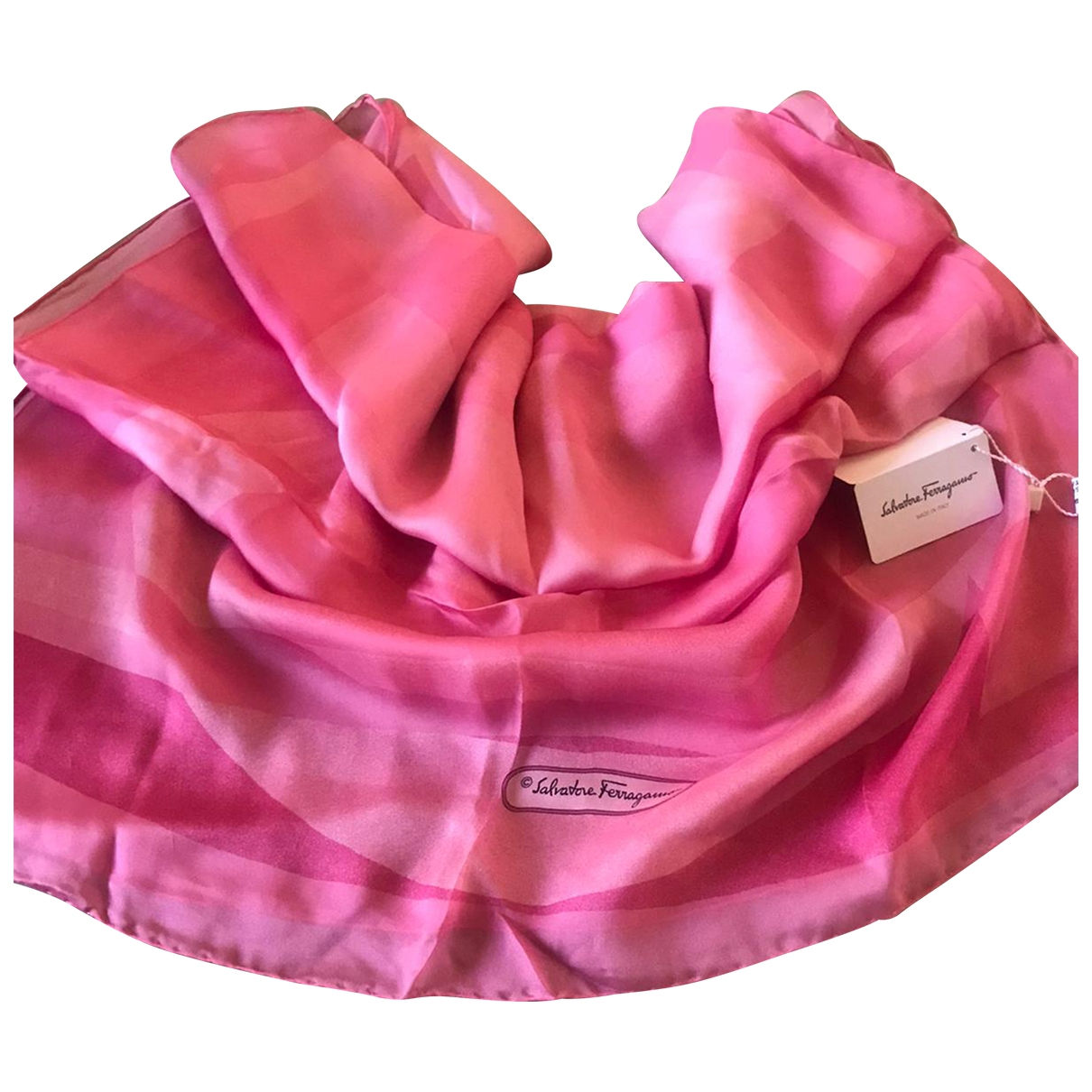 Salvatore Ferragamo \N Pink Silk scarf for Women \N