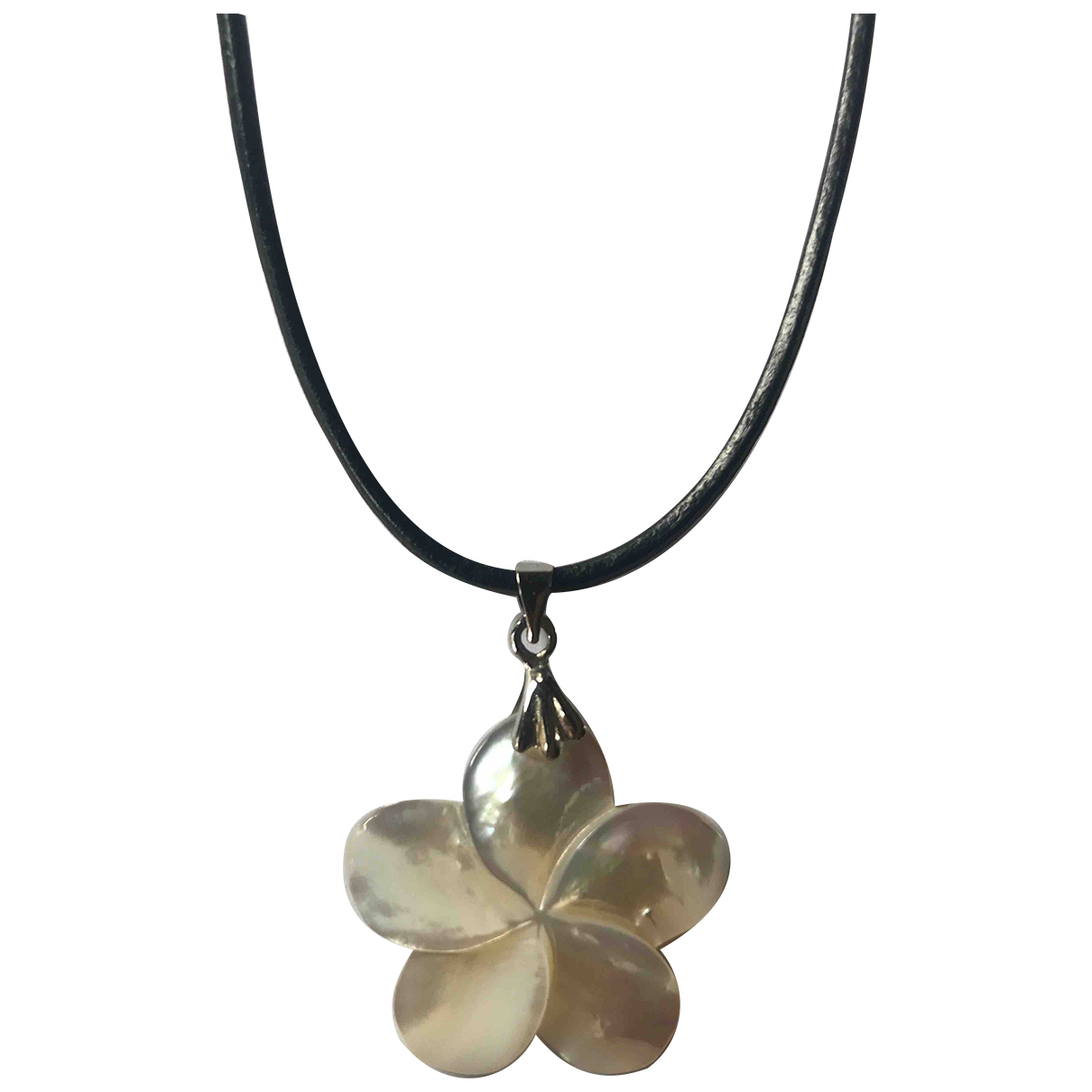 - Collier Motifs Floraux pour femme en autre - noir